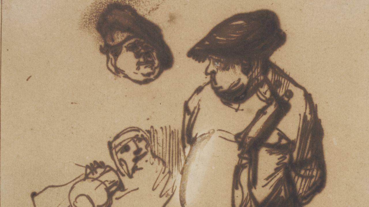rembrandt.UN REMBRANDT. El «Estudio del Actor Willem Ruyter como campesino» muestran la importancia que daba el genio a los gestos.