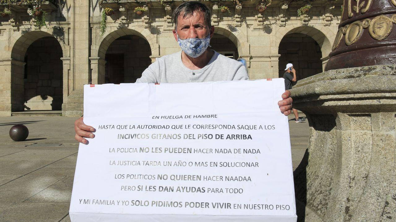Juan Carlos estuvo un día en huelga de hambre
