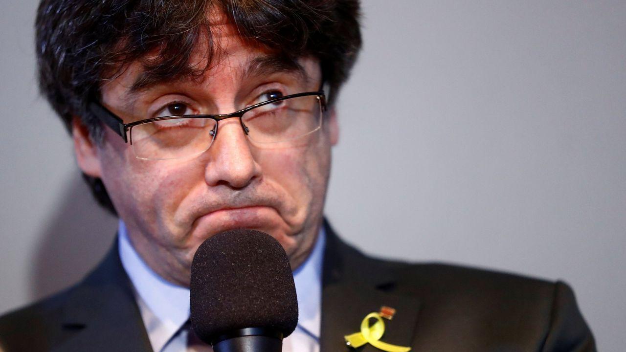 Oriol Junqueras abandona el Tribunal Supremo tras declarar ante el juez y antes de volver a la prisión de Estremera