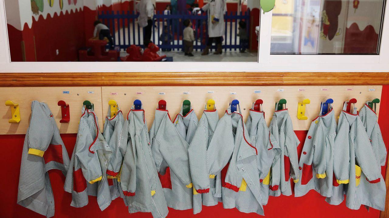 Las privadas, la otra opción. Muchos ya optan desde el principio por las escuelas infantiles privadas, pero los padres que no entren en la lista de la Xunta tendrán en Ourense estas guarderías (en la imagen Escola infantil Pequechiños), que ya se preparan para el nuevo curso.
