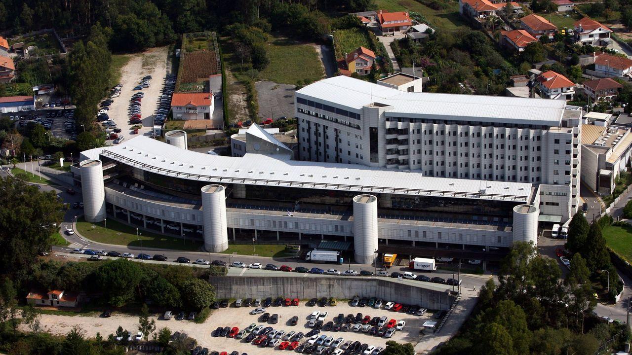 Los cinco espacios que se podrán visitar.Terrenos del actual Hospital Montecelo, de Pontevedra, en la parroquia de Mourente