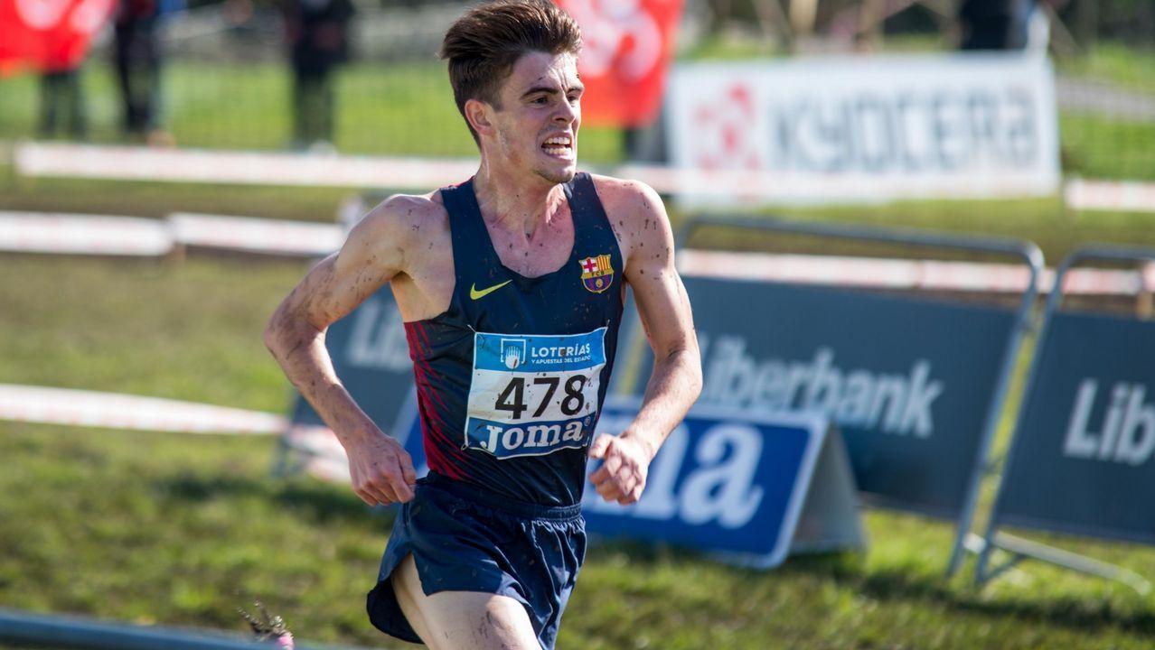 Adrián Ben, atleta gallego del FC Barcelona