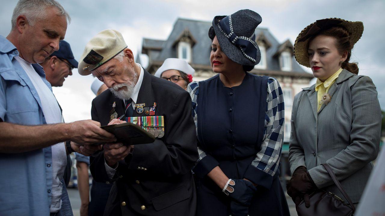 Un veterano británico de la Segunda Guerra Mundial, Lewis Trinder