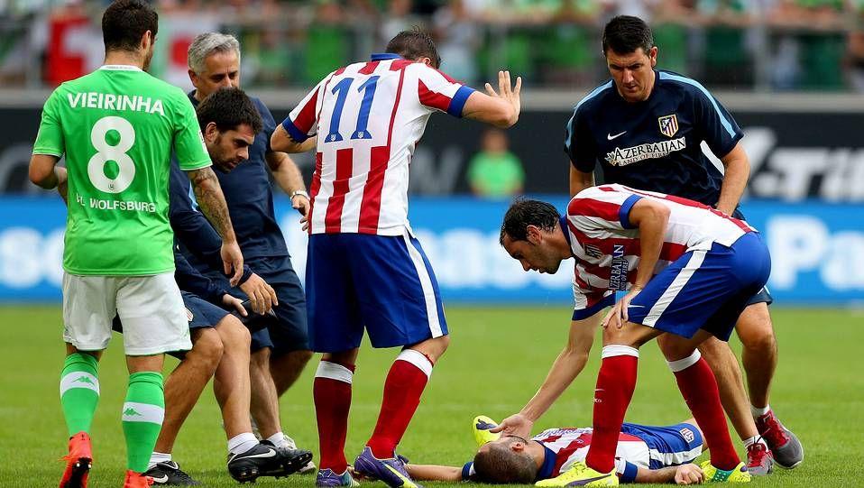 «El Madrid tiene mejor equipo que el año pasado».Momento de la lesión de Mario Suárez