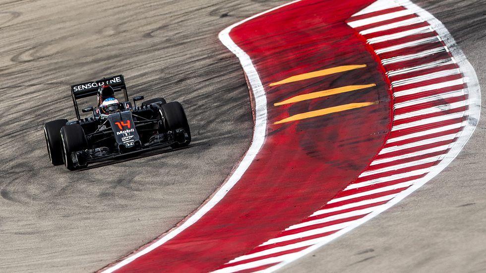 Fernando Alonso, durante el GP de EE.UU.