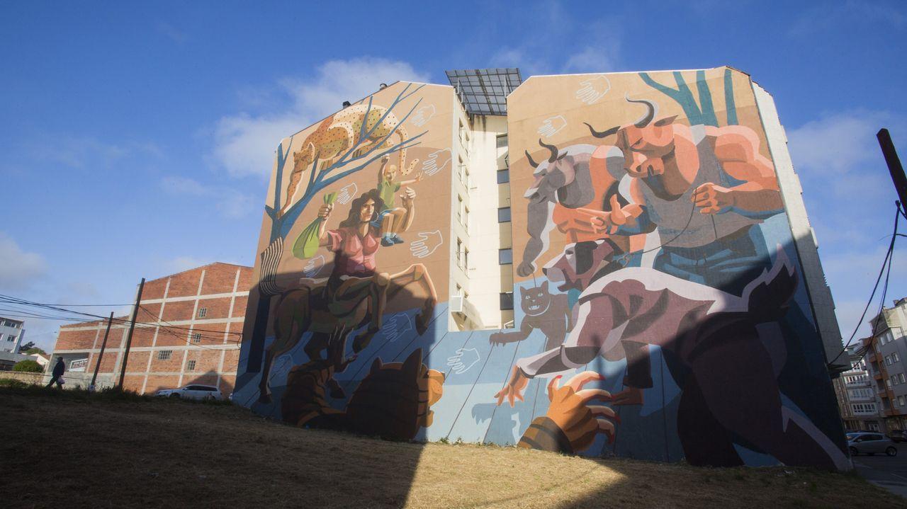 Así avanzan los murales del séptimo Rexenera Fest