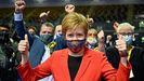 Nicola Sturgeon, tras conocer los primeros resultados el viernes