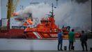 Incendio a bordo del mercante URA en A Coruña