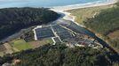 La piscifactoría Tres Mares, en una foto de archivo, logró finalmente que el Gobierno accediese a renovar su concesión en Lires