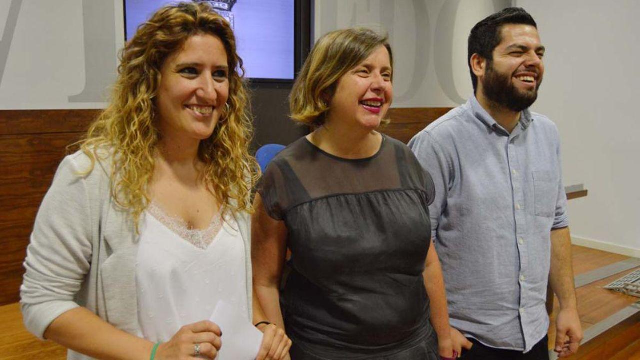 Gascona, sidra, sidrerías,.Anabel Santiago, Ana Taboada y Rubén Rosón