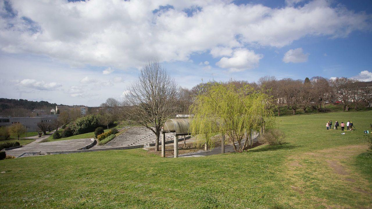 La vaguada del campus lucense tiene una extensión de unos 25.000 metros cuadrados