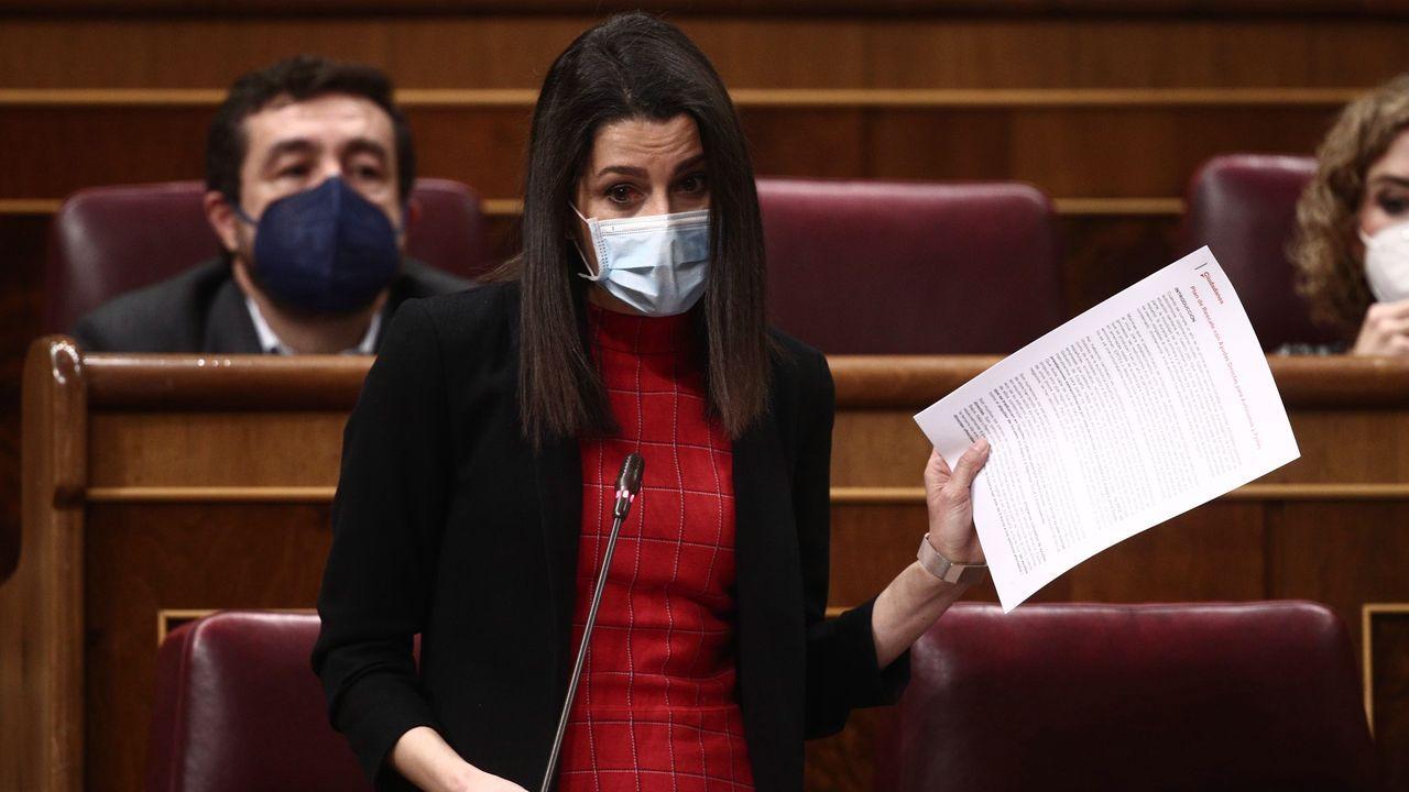 Inés Arrimadas, este miércoles en el Congreso