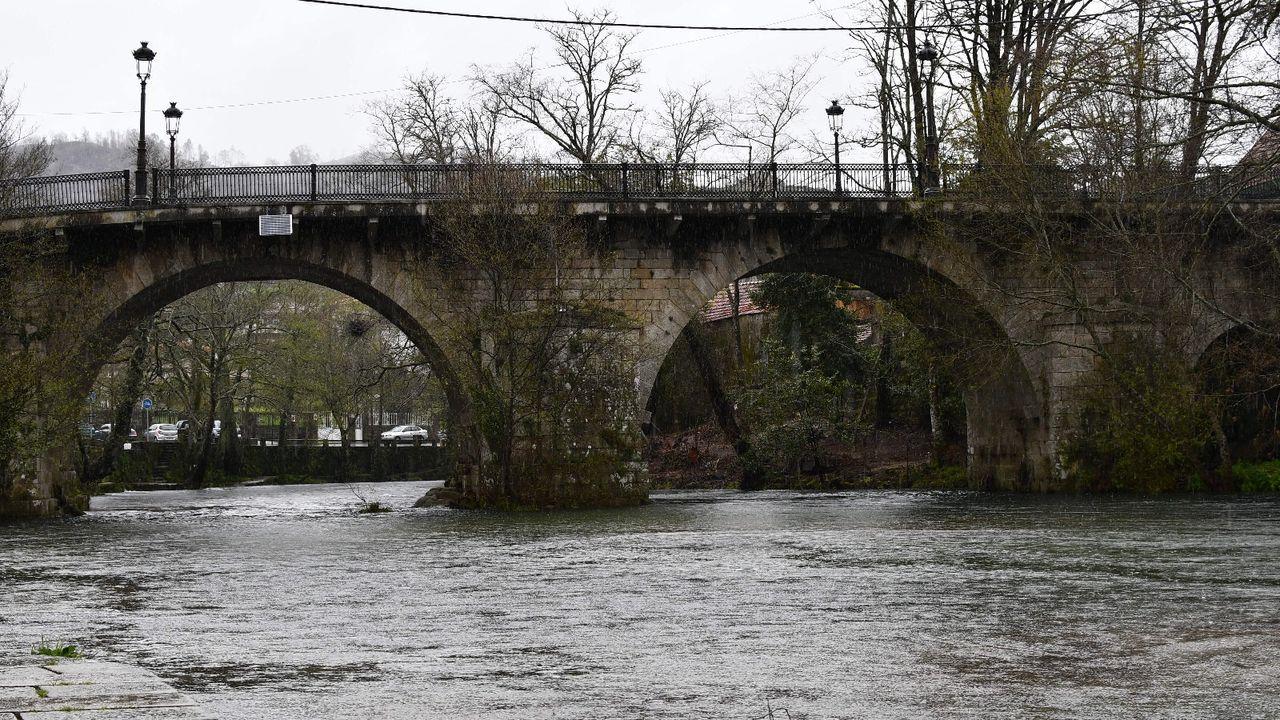 Imagen de archivo del rió Verdugo a su paso por Ponte Caldelas