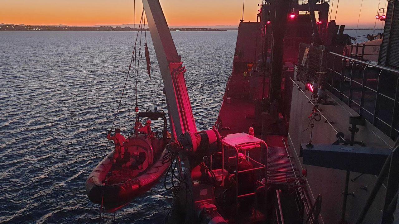 Operaciones nocturnas en la bahía de Cádiz