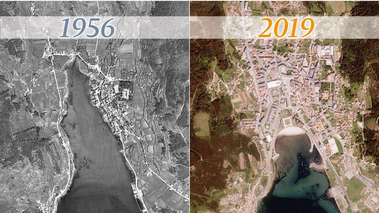 San Facundo de Ribas de Miño conjunto declarado de Interés Nacional.El espectacular cambio de Cee en sesenta años
