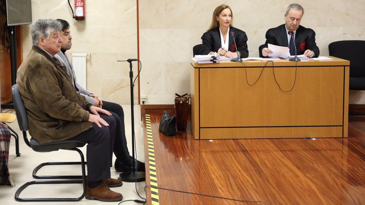 Las imágenes de la tragedia de Birmania.Isaac Bermúdez Sixto y su hijo, José Antonio Bermúdez Raña, durante el juicio en la sección compostelana de la Audiencia Provincial