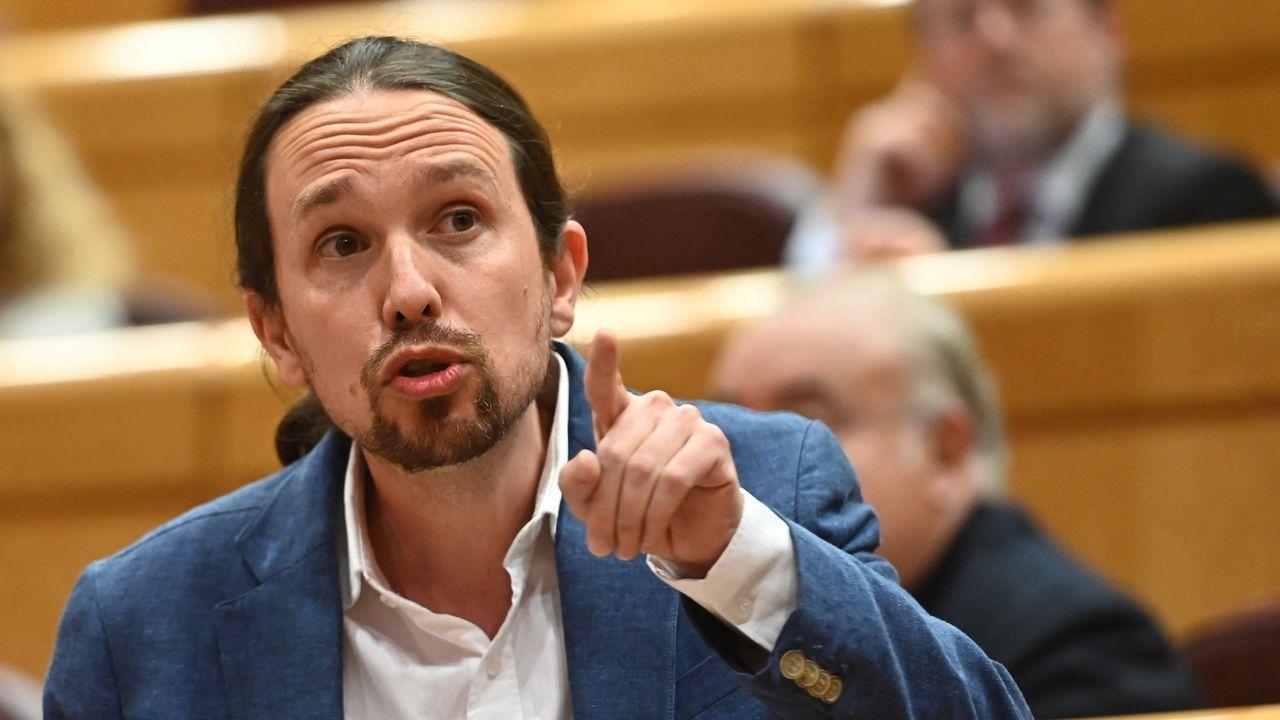 El vicepresidente Iglesias, ayer en la sesión de control al Gobierno en el Senado