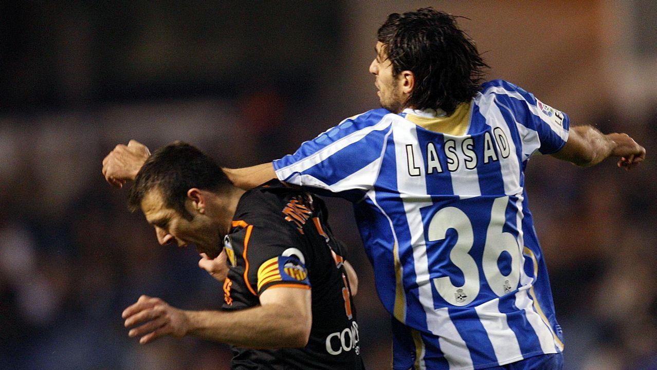 Lassad salta con Marchena en un Dépor - Valencia en Riazor (1-1)