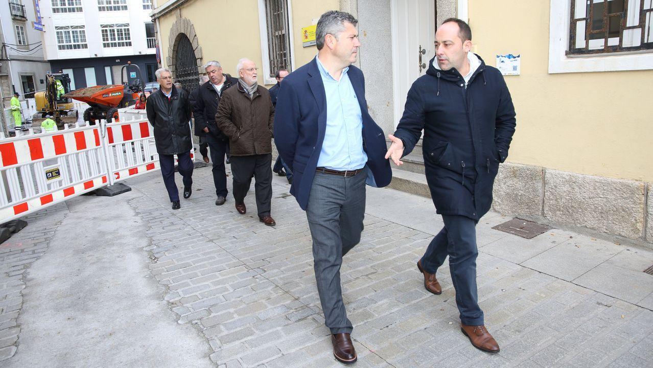 Ovidio Rodeiro, en una visita reciente a Malpica
