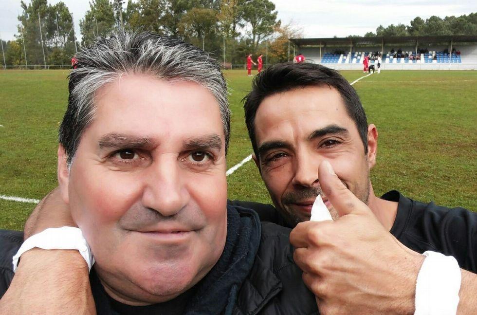 Los presidentes del Ferreira y del Sober disfrutaron del derbi