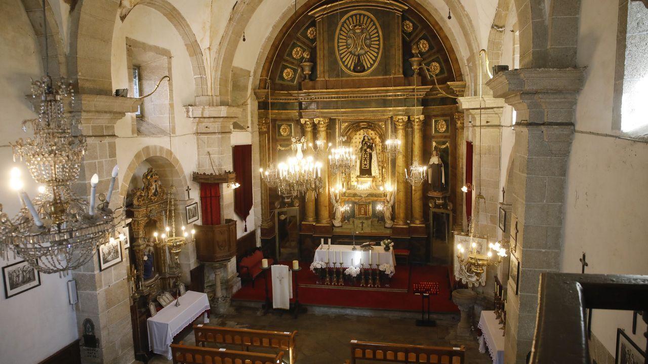Interior da igrexa do Carme, en Lugo