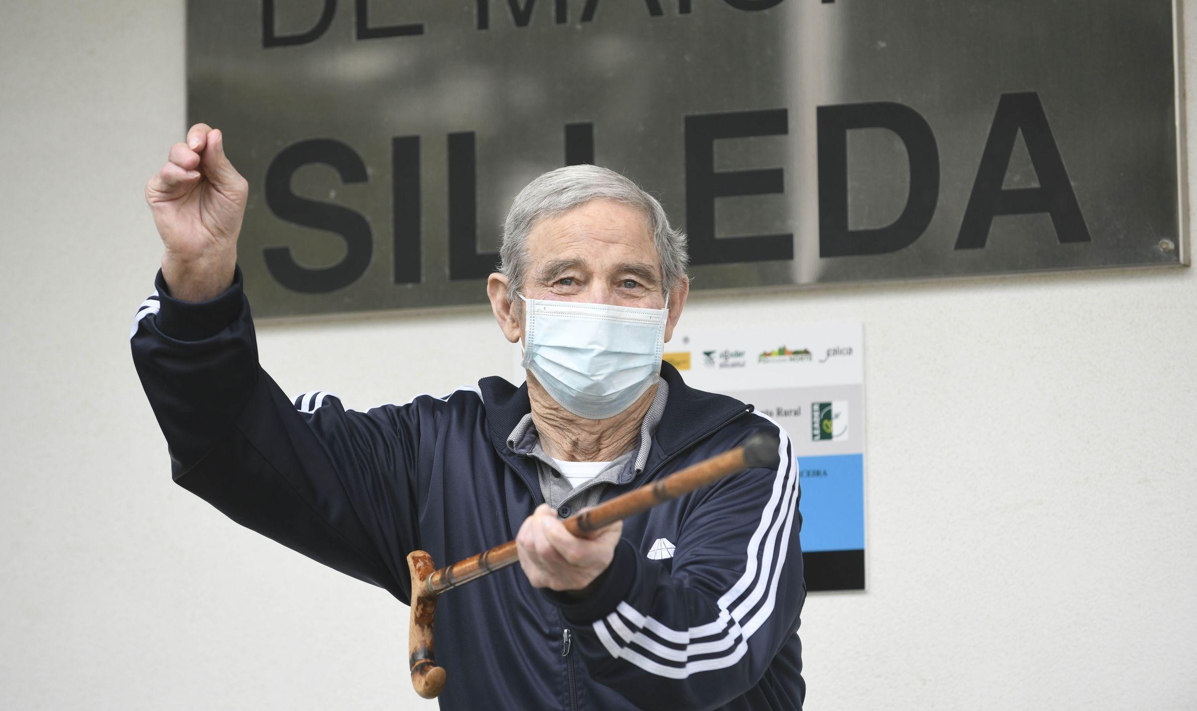 Santiago Riveiro, de 82 años, uno de los residentes vacunados que se infectó de covid en Silleda y pasó la enfermedad asintomático
