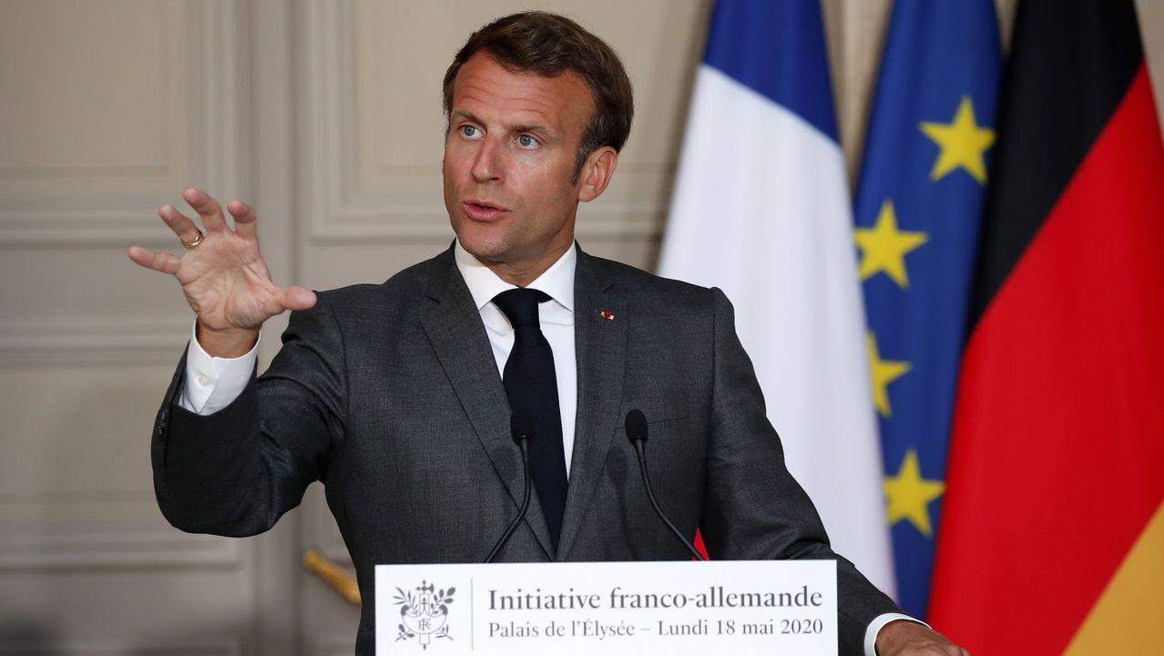 Macron, durante una rueda de prensa el pasado día 18 de mayo