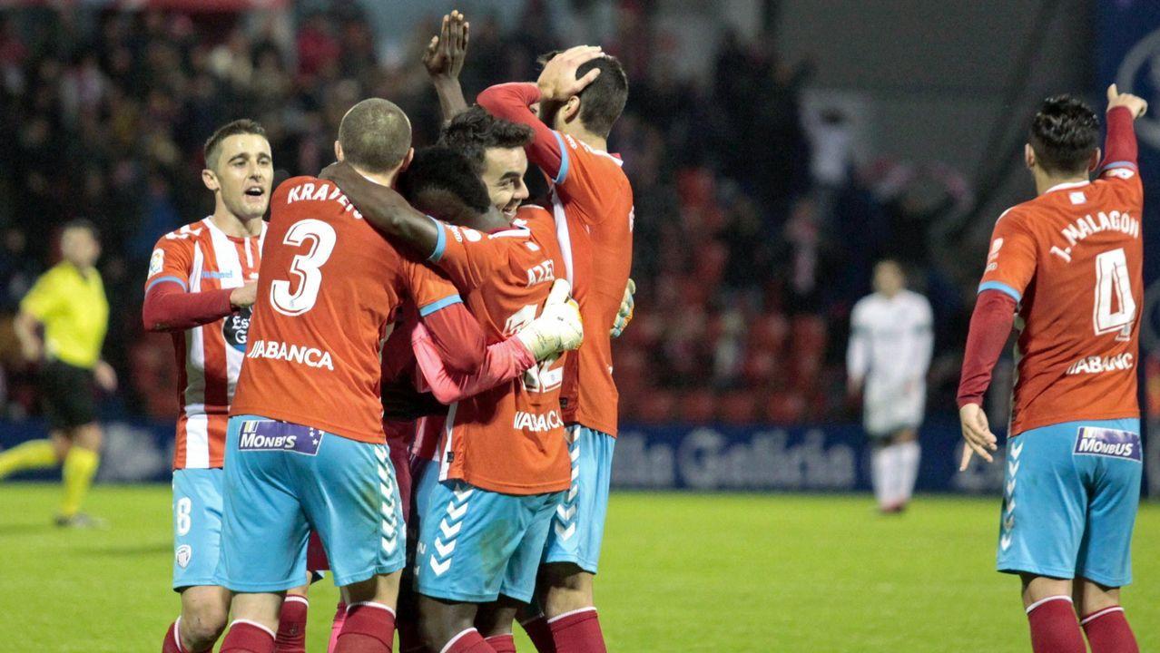 Anquela Requexon Real Oviedo.Edu Polo y Xavi Hernández