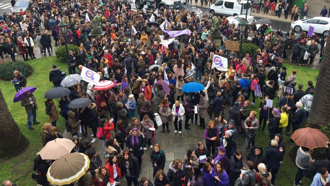 Búscate en la manifestación feminista de Lugo.Adriana Lastra