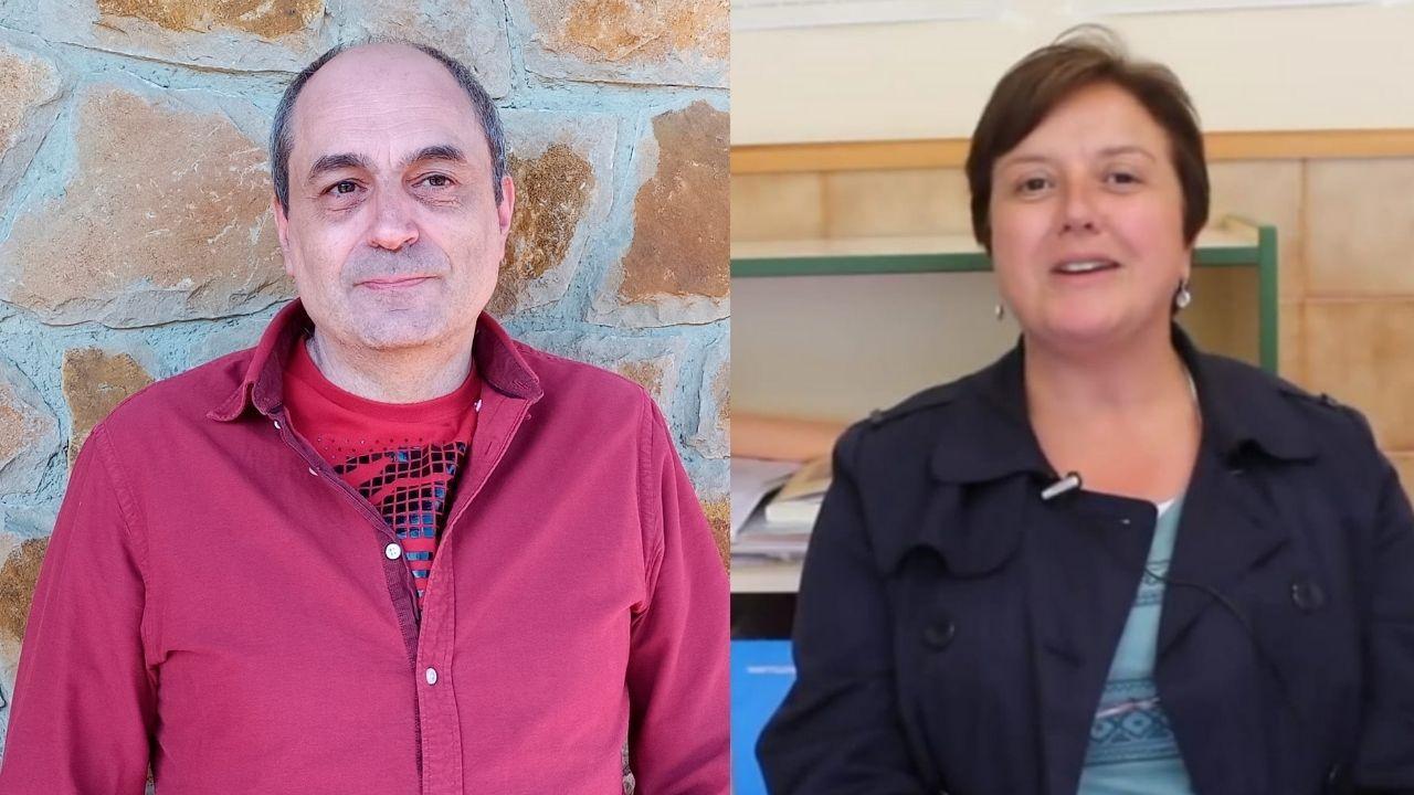 Daniel Caso y Ernestina de la Rasilla, profesores interinos en Asturias, piden una estabilidad laboral