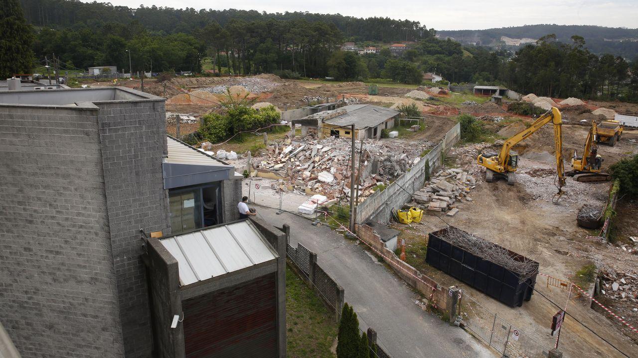 Obras de construcción del hospital público Gran Montecelo, en Pontevedra