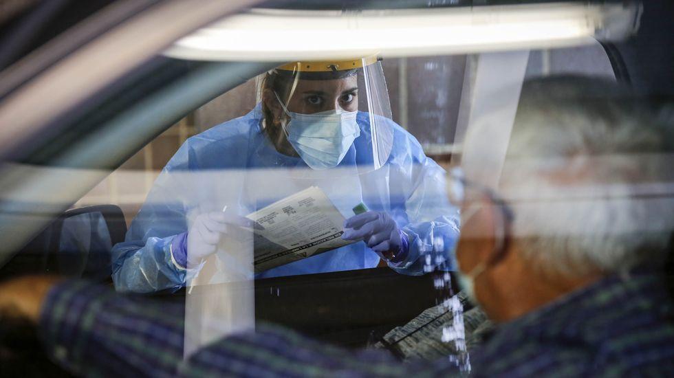 Covid Auto en el CHUO para hacer la PCR