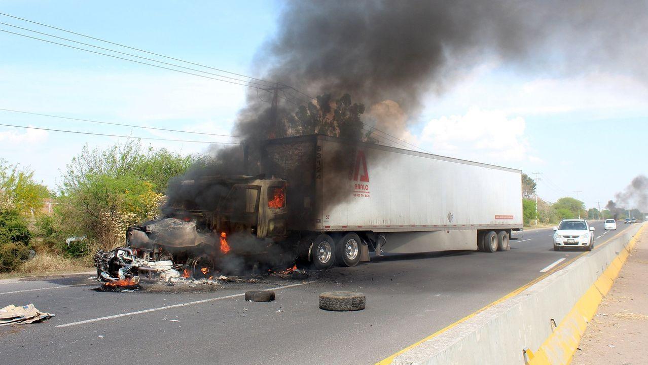 Bloqueos de carreteras en México para frenar a las unidades antidroga