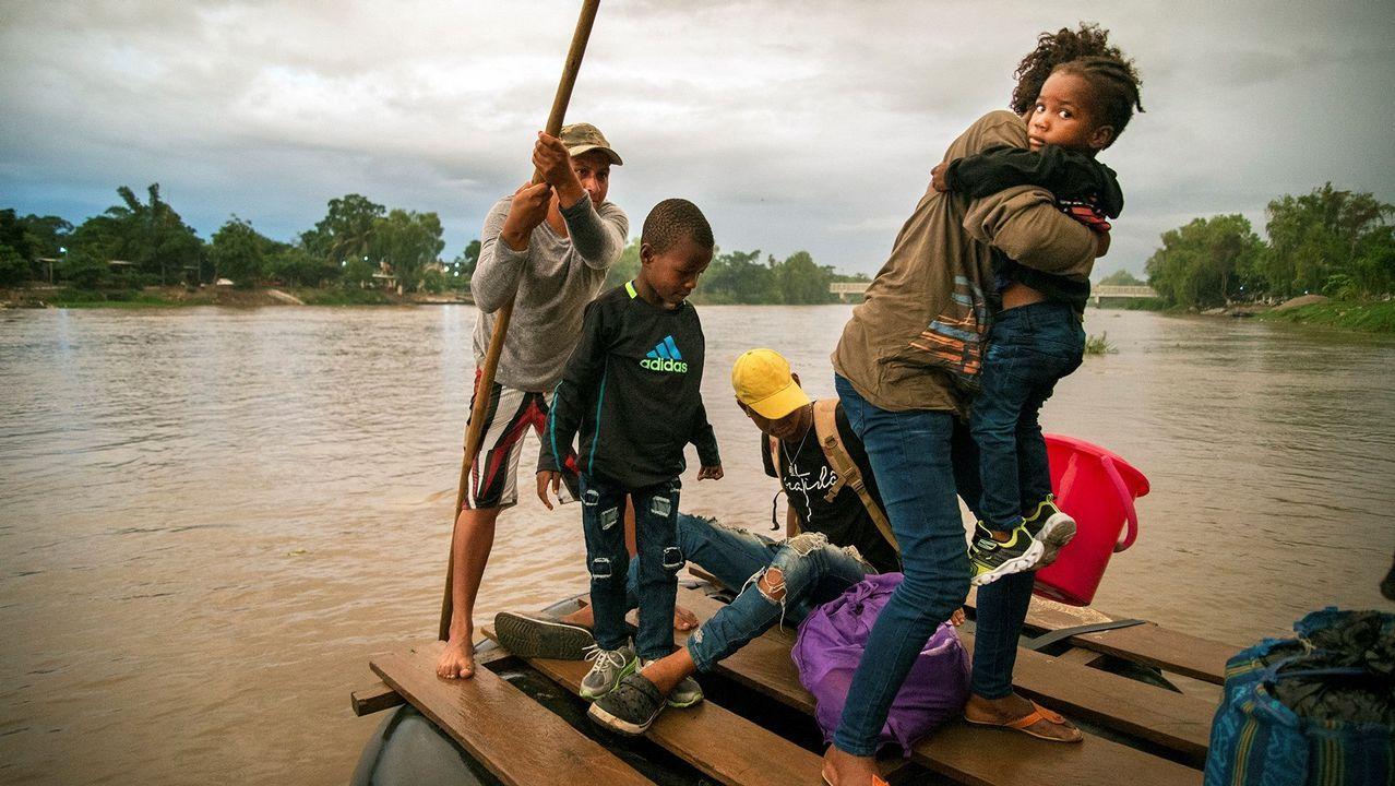 El flujo de migrantes por el río Suchiate continúa pese al refuerzo de las medidas de seguridad de México