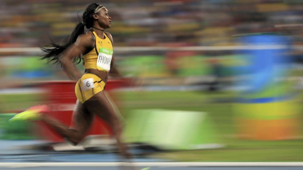 Elaine Thompson finalizó de primera en 100 y 200 metros y consiguió plata en relevó 4x100
