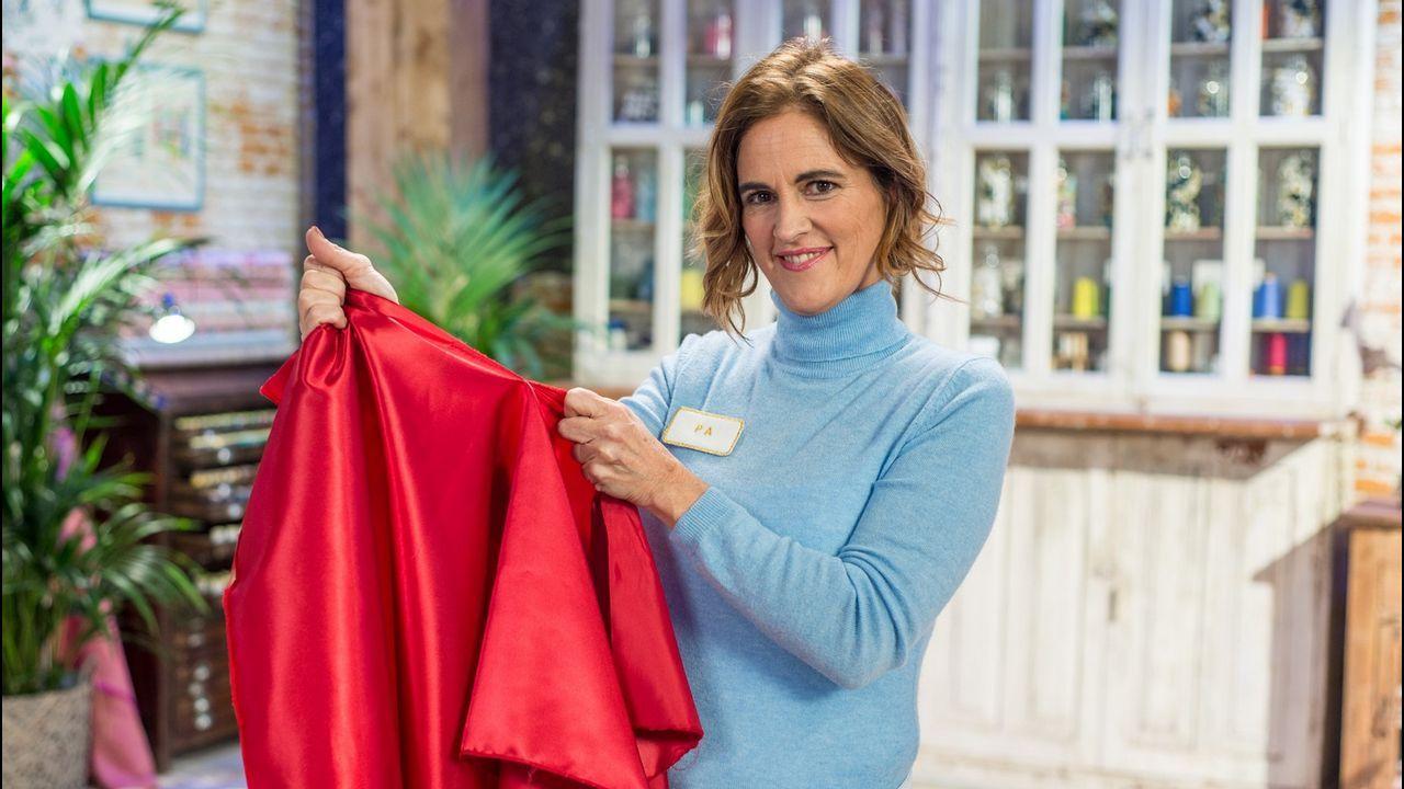 María Escote, con un vestido de su última colección