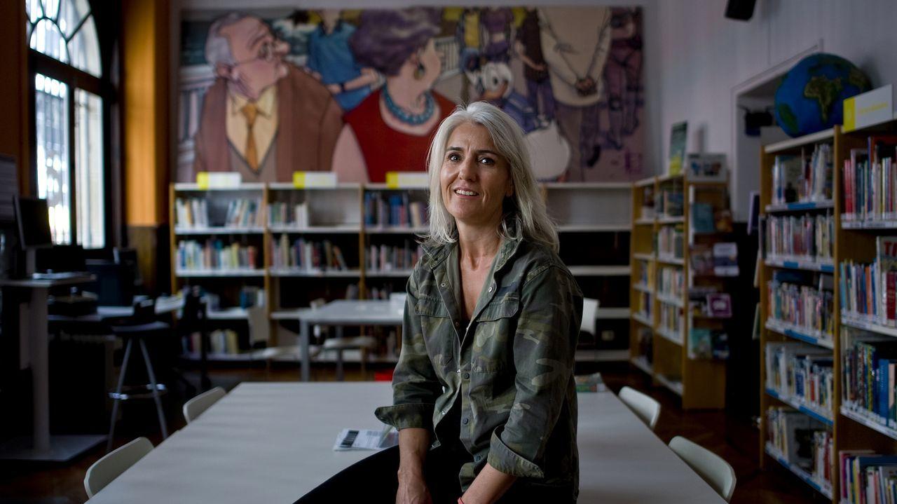 Borja Caamaño, fundador y editor de Bunker Books.La escritora canadiense Anne Carson, Premio Princesa de Asturias de las Letras