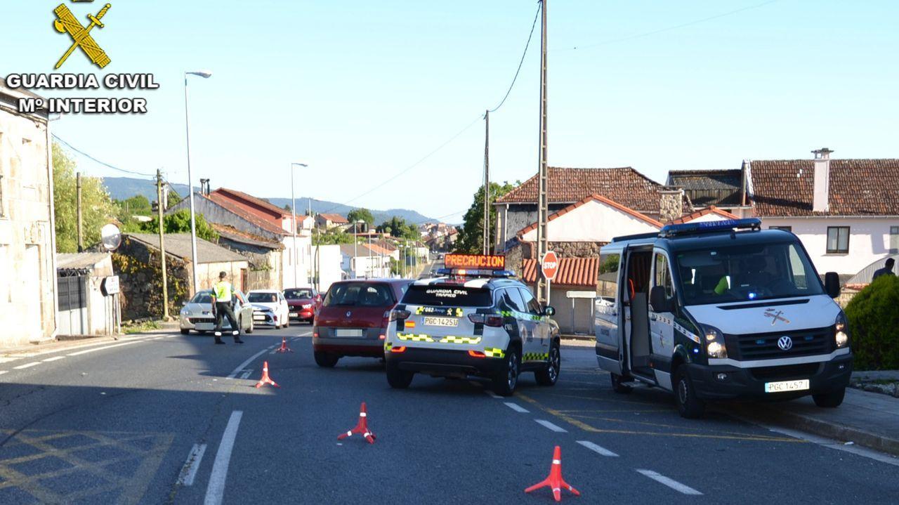 Concentración motera en Gijón.Limitación a 100 por hora en la A-54 entre Lugo y Guntín, durante 10 kilómetros
