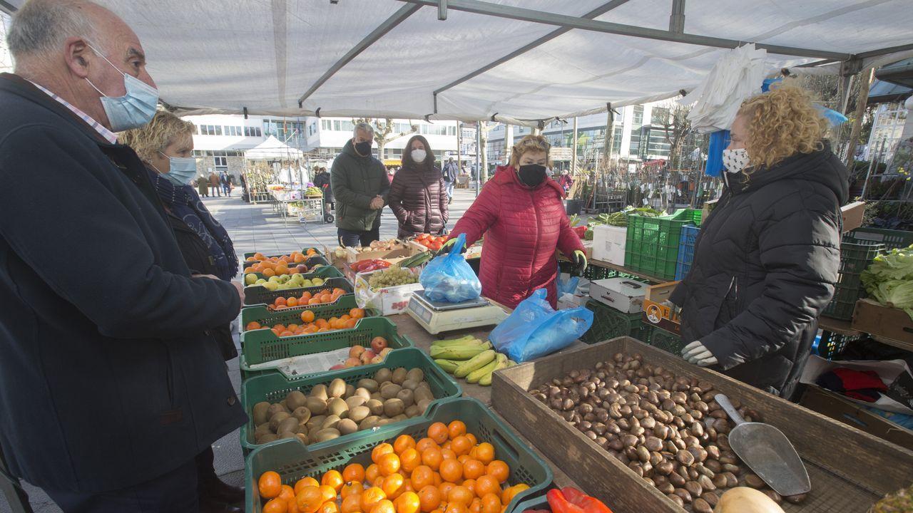 El primer mercado dominical del año en Carballo se vio afectado por las restricciones.