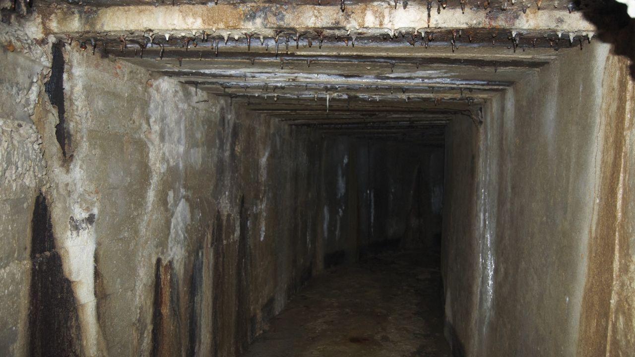 Interior del refugio antiáereo de Cimavilla