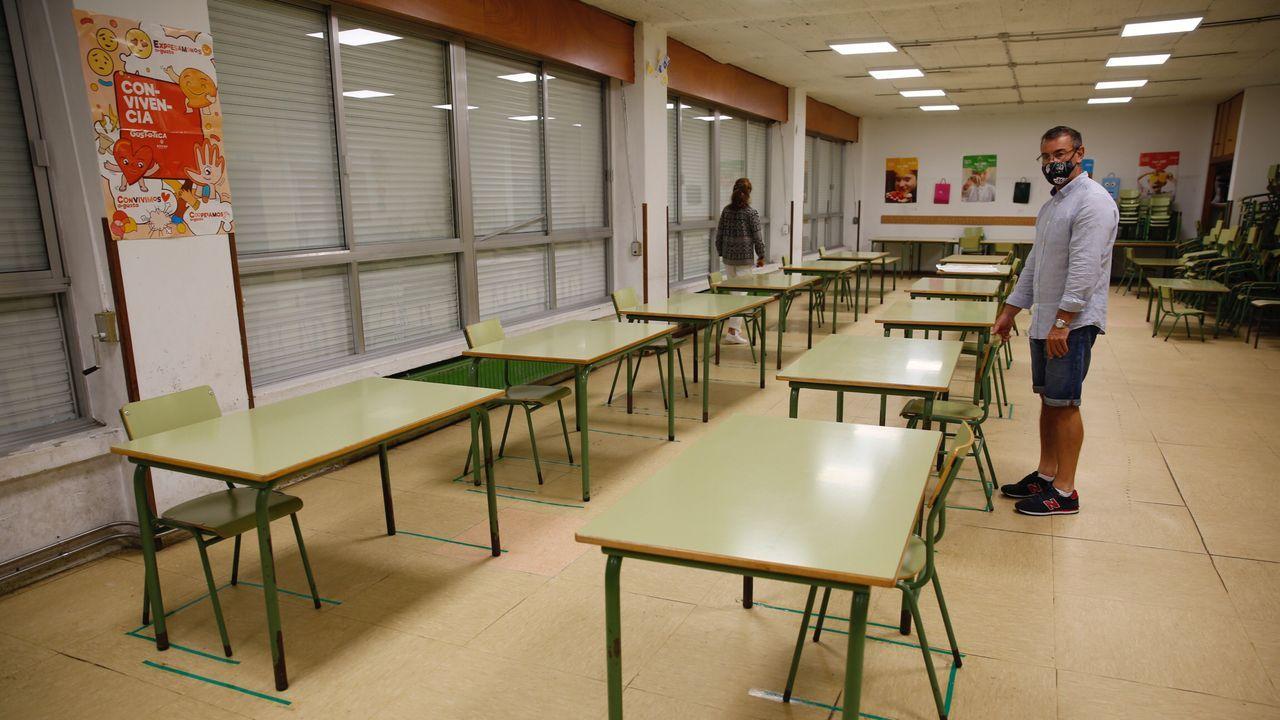 En el Hospital Montecelo, en Pontevedra, hay ya seis pacientes de coronavirus ingresados, cuatro en planta y dos en la uci