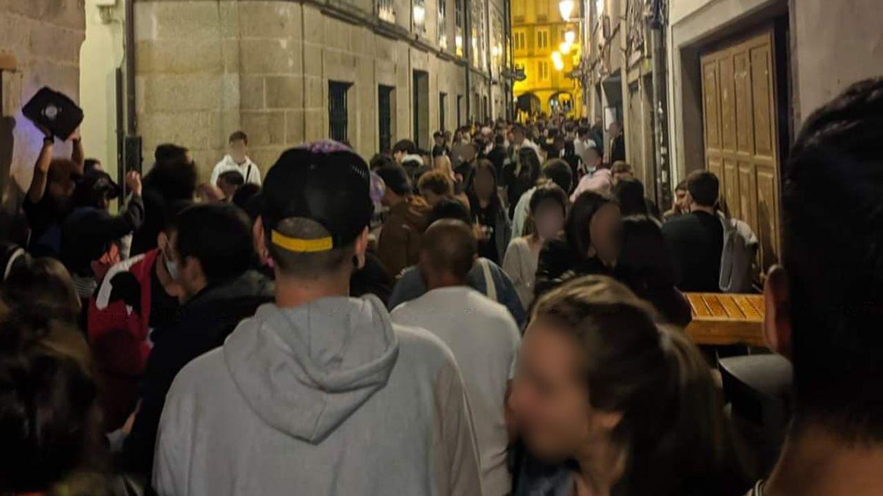 Imagen de la Rúa Nova de este fin de semana