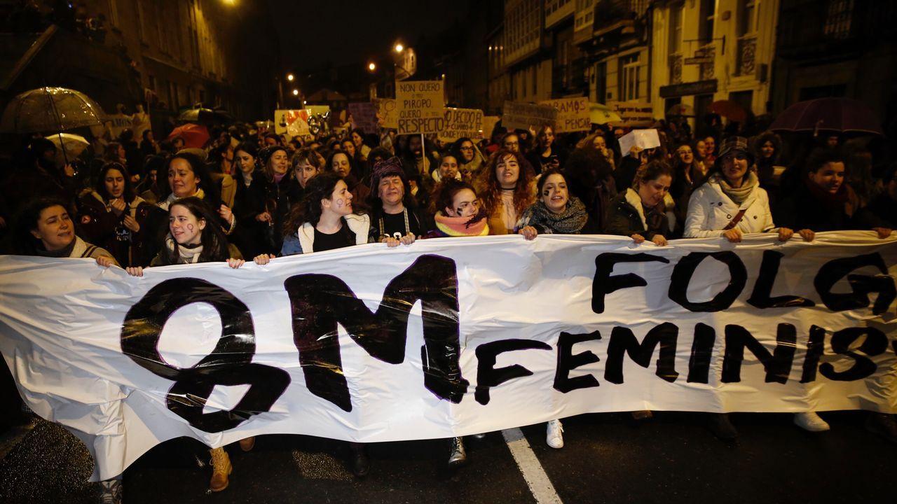 Manifestación en las calles de Santiago