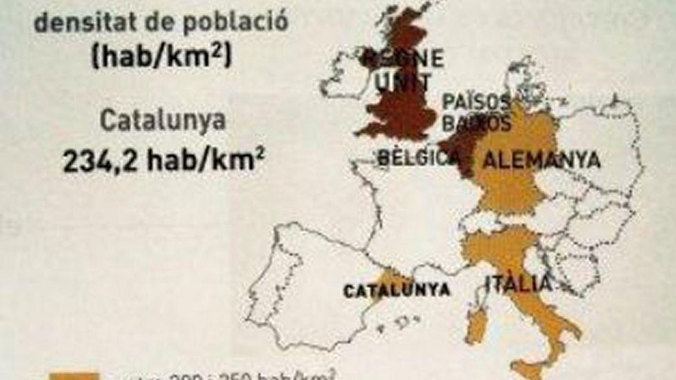 Compara Cataluña, no con otras regiones europeas, sino con otros países. Dice que Cataluña es una región europea que «puede tener un gobierno propio». La lengua es el catalán.