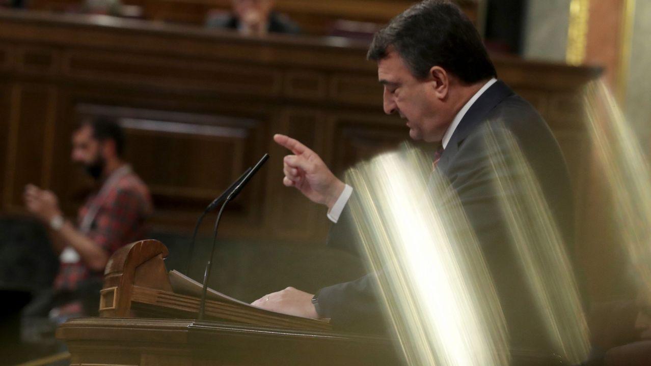 Isidro Martínez Oblanca.Aitor Esteban, portavoz del PNV en el Congreso