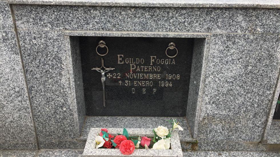 Egildo Foggia Paterno, fallecido en diciembre de 1994, está enterrado en el cementerio de Monforte