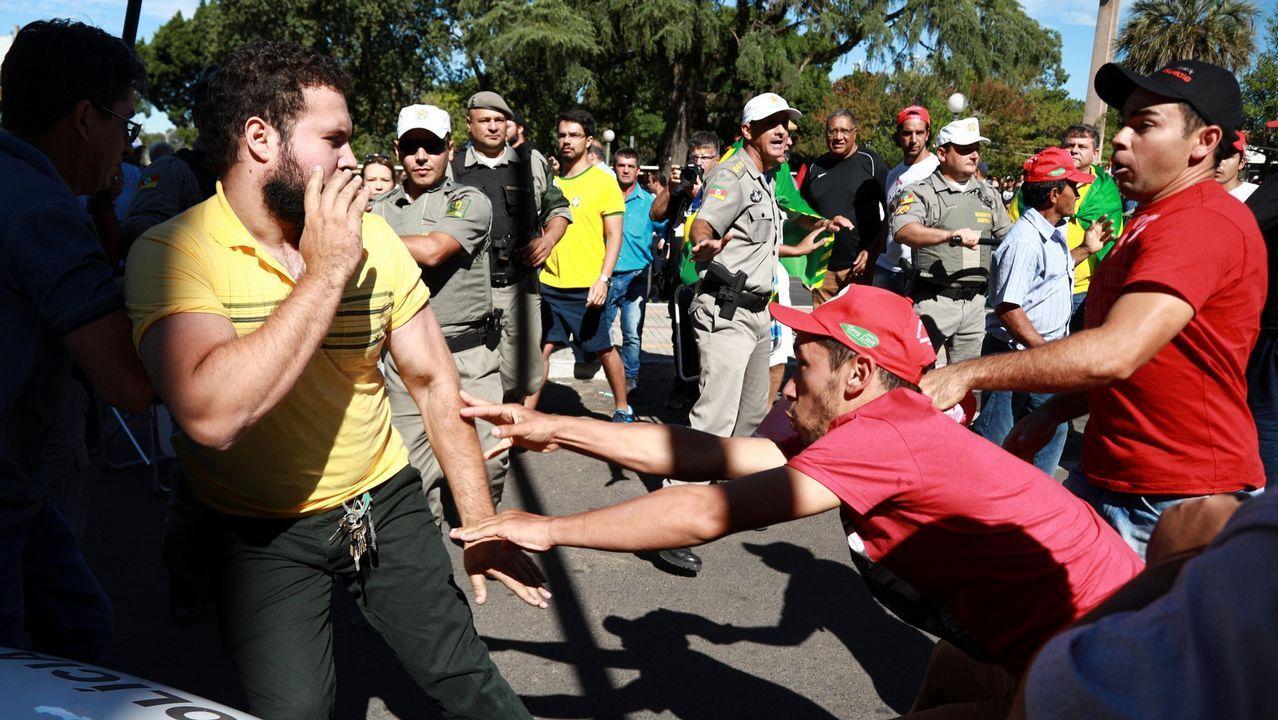 Lula pone fin a la resistencia y se entrega.Vista de la masiva manifestación en Sao Paulo de los partidarios de que Lula da Silva sea enviado a prisión