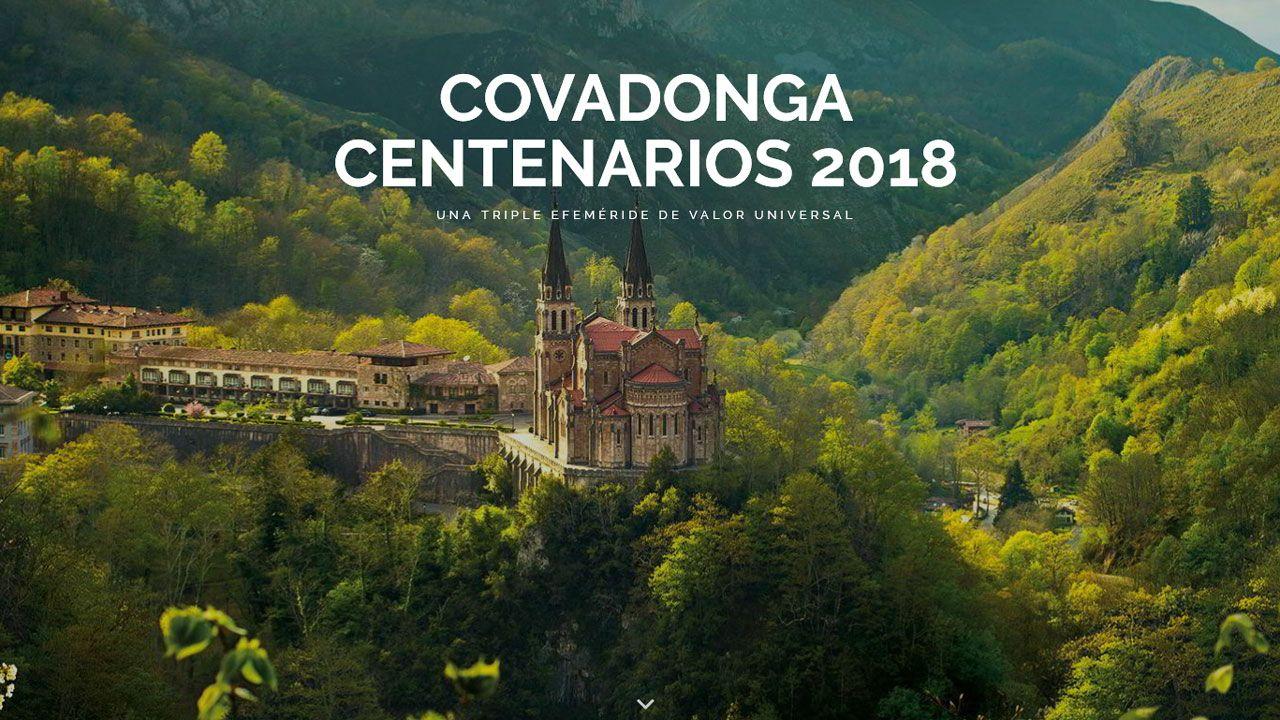 Rincones de Oviedo.Portada de la web dedicada a los Centenarios de Covadonga 2018