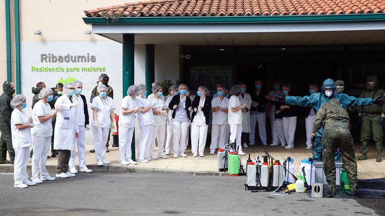 Protesta en el centro de salud de Cambados