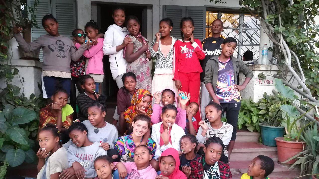 Sabela Eiria. Realizó su voluntariado en Madagascar, en donde pudo participar en múltiples programas